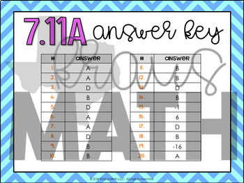 7.11A: Solving Equations & Inequalities STAAR Test-Prep Task Cards (GRADE 7)