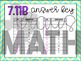 7.11B: Values for Equations & Inequalities STAAR Test-Prep Task Cards (GRADE 7)
