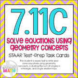7.11C: Angle Relationships STAAR Test-Prep Task Cards (GRADE 7)