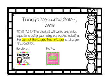 7.11c Triangle Measures Gallery Walk