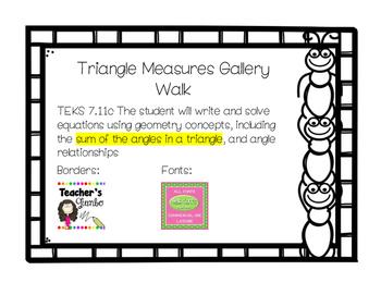 7.11c Triangle Measures Gallery Walk