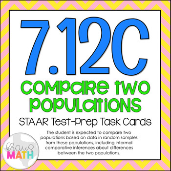 7.12C: Graphs: Comparing Two Populations STAAR Test Prep Task Cars (GRADE7)