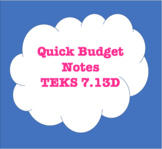 7.13D Quick Budget Notes - How much money do I need? Hourly wages