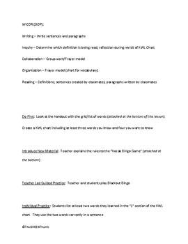 Common Core Vocabulary