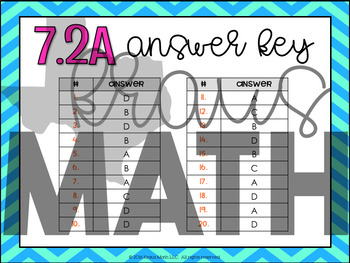 7.2A: Sets & Subsets of Rational Numbers STAAR Test Prep Task Cards (GRADE 7)