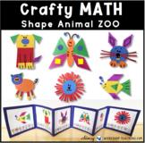 7 2D Animal ZOO Math Craft (From Crafty Math Bundle 3)