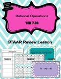 7.3B Rational Operations Bingo - STAAR REVIEW
