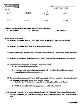 7-4 Combinations & Permutations