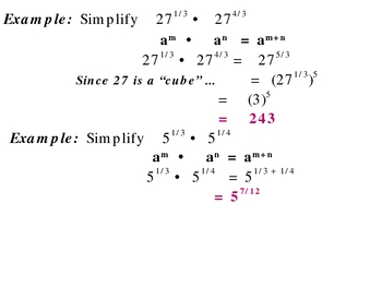 7-4 Properties of exponents