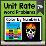 TEKS 7.4B ✩ Unit Rate Word Problems ✩ Google Sheets Coloring Activity