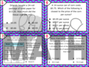 7.4B: Unit Rates STAAR Test Prep Task Cards (GRADE 7)