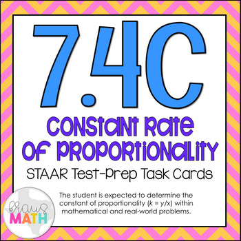 7.4C: Constant of Proportionality STAAR Test-Prep Task Car