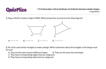 7.5.A Generalize critical attributes of s.. | 7th Grade Math TEKS | Print & Scan