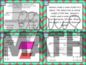 7.5C: Similar Figures & Scale Drawings STAAR Test Prep Task Cards (GRADE 7)