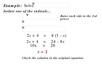 7-5a Solve radical equations (Part II)