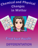 7.6 Chemical and Physical Changes in Matter Card Sort Puzzle