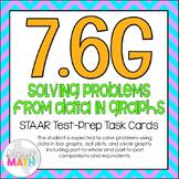 7.6G: Solve Problems from Data in Graphs STAAR Test-Prep Task Cards (GRADE 7)