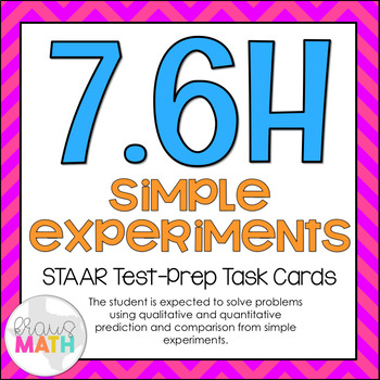 7.6H: Predictions with Probability STAAR Test-Prep Task Cards (GRADE 7)