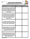 7.7 a Representing Linear Relationships in a variety of forms-Matching worksheet