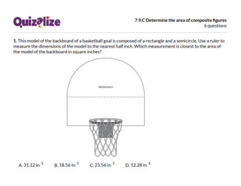 7.9.C Determine the area of composite fig.. | 7th Grade Math TEKS | Print & Scan