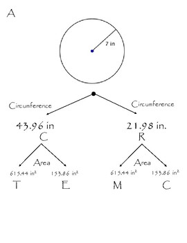 7.9B - circumference and area - 3-Letter Words