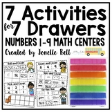 7 Activities For 7 Drawers Numbers 1-9 Math Centers