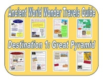 7 Ancient World Wonders - Travel Guide Booklet Set