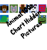 7 Animal 100s Chart Mystery Pictures, Color by Number