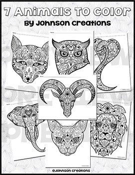 7 Animals To Color
