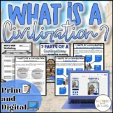 7 Areas of Civilization Activity {Digital AND Paper}