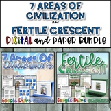 7 Areas of Civilization Activity {Digital AND Paper} by History from
