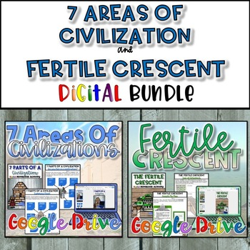 7 Areas of Civilization & Fertile Crescent Bundle {Digital}