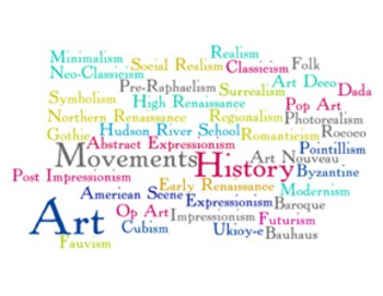 """7 """"Art Movements"""" Word Wall Posters for Art Class"""