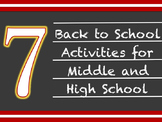 7 Back to School Activities and Icebreakers for Middle or
