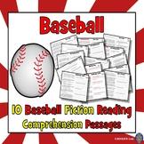 Baseball: Baseball Reading Activities: 7 Baseball Reading Comprehension Passages