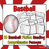 Baseball Reading Comprehension - 10 Passages - Reluctant Readers
