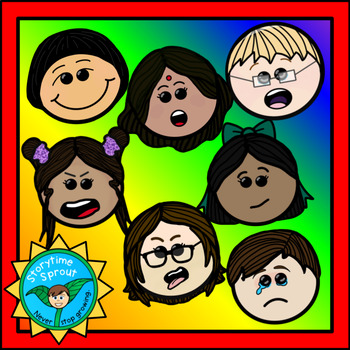 7 Basic Emotions Clipart Faces