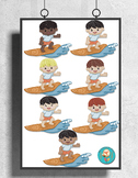7 Beach Clip Art pieces, surfing boys, Summer party Clipart, 300dpi png files!