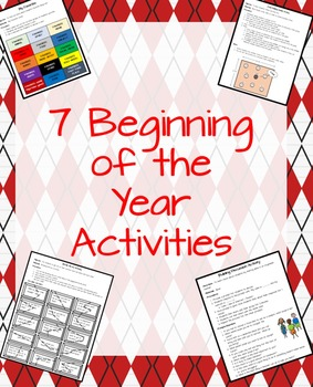 7 Beginning of the Year Activities