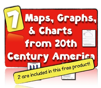 7 Charts, Maps, & Graphs from 20th Century America: Free Version!