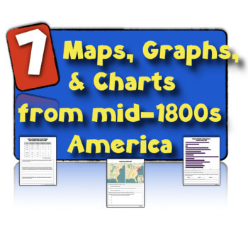 7 Charts, Maps, & Graphs from 19th Century America: Teaching Skills and Content!