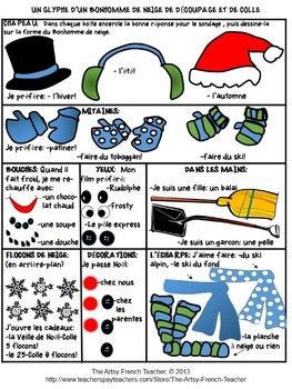 7 Christmas and Winter French Glyphs Variety Packet (en français)