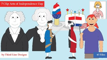 7 Clip Arts of Independence Day