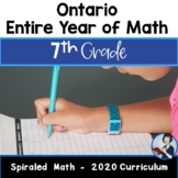 7 Comprehensive Math Bundle (New Ontario Math Curriculum 2020)