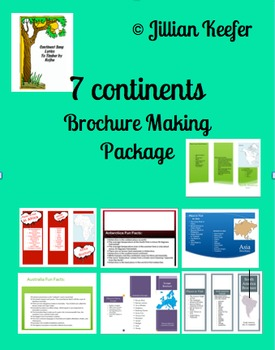 7 Continent Brochure Making Activities