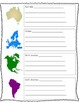 7 Continent Note-Taking Sheet