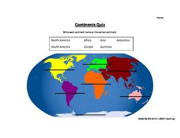 7 Continent Quiz
