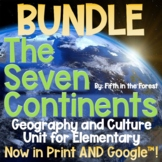 7 Continents Geography Unit BUNDLE for Distance Learning