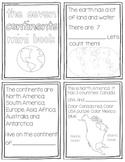 7 Continents Mini Book {Black and White}