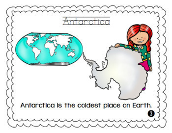 7 Continents Primer Sight Word Story! {Printable!!}